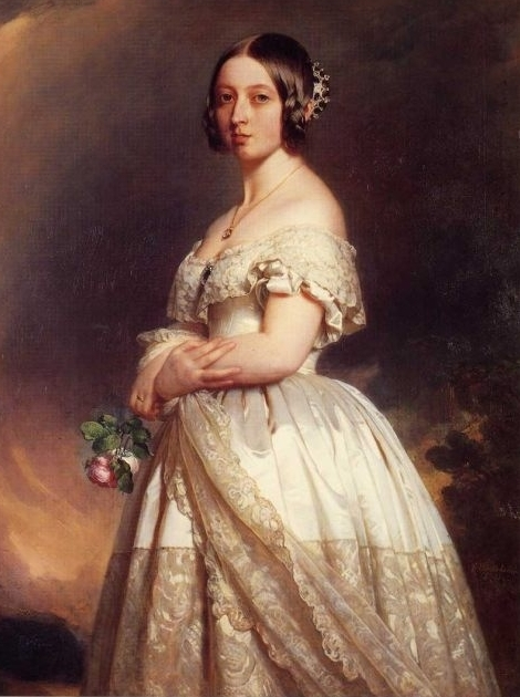Portrait Of Victoria In Her Wedding Gown Without The Accessories