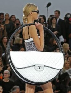 Lagerfeld's Hula Hoop purse for Chanel - now where are my mints?