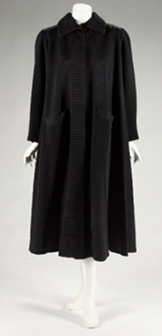 Valentina coat of ottoman silk, from the private wardrobe of Gret Garbo