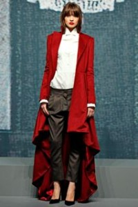 Wes Gordon and his Mullet hemline for fall 2012