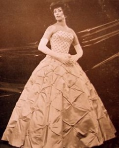 One of Ellen most popular wedding and evening dress designs that featured on the cover of Canadian Bride in 1962.