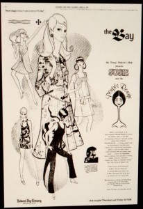Advertisement from April 1967 for Poupee Rouge store within a store at Winnipeg's Hudson Bay Company