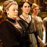 The dowager countess' black dinner dress