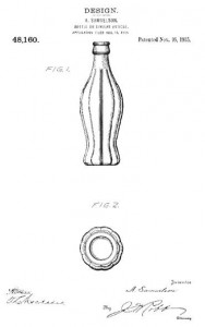 1915 trademark Coca-cola bottle