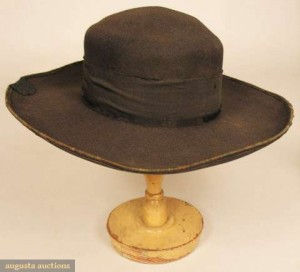 Typical mid-century everyday round hat - the basis for what would become the cowboy hat