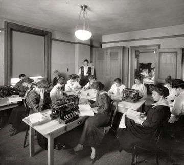 typewriters, Washington DC, c. 1917