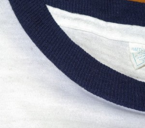 Close-up of the bleed along the collar