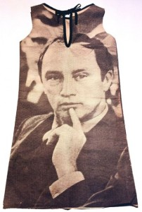 Paper dress with image of Pierre Trudeau, 1968