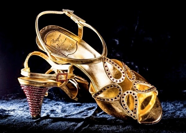 Reproductions of the coronation sandals by Roger Vivier, c. 2012