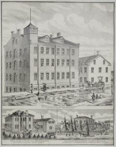 The Ontario Knitting Mills in Paris, c. 1873