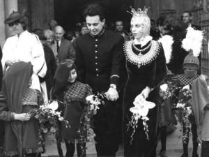 Isabella and Derek Blow's wedding 1989
