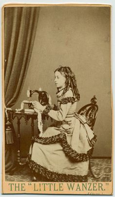 View possibly of Richard Wanzer's daughter modelling the Little Wanzer, c. 1870