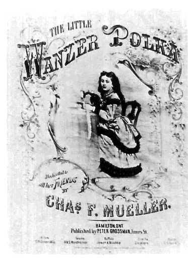 "The ""Little Wanzer"" Polka named after the Wanzer sewing machine, c. 1874"