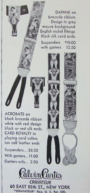 Advertisement for Calvin Curtis, 1950, showing some of the same designs available in 1938