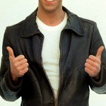 The Fonz's black leather jacket