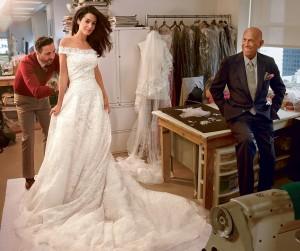 Amal Alamuddin (Mrs. George Clooney) in Oscar de la Renta
