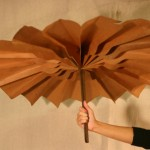 Folding paper parasol from the 1933 Chicago World's Fair