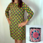 Jersey dress sold wadded up in a can, 1966