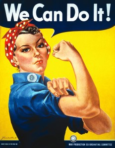 Image often incorrectly cited as 'Rosy the Riveter'.