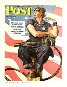 Rosy the Riveter by Norman Rockwell, Saturday Evening Post cover, May 29, 1943