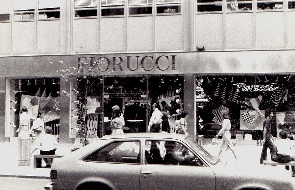 Fiorucci store on 59th street in New York