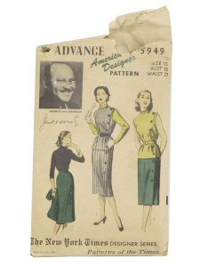 1951 pattern for Junior sized dress, from Horwitz and Duberman