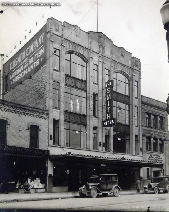 Smith's of Windsor, one of Gordon MacKay's retail stores, c. 1928