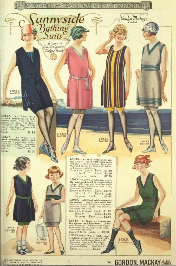 Women's Swimwear from the 1922 Gordon MacKay Co. Ltd. Wholesale catalogue, Toronto