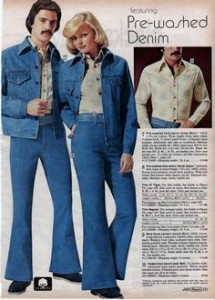 Denim jackets and jeans, Sears, 1975