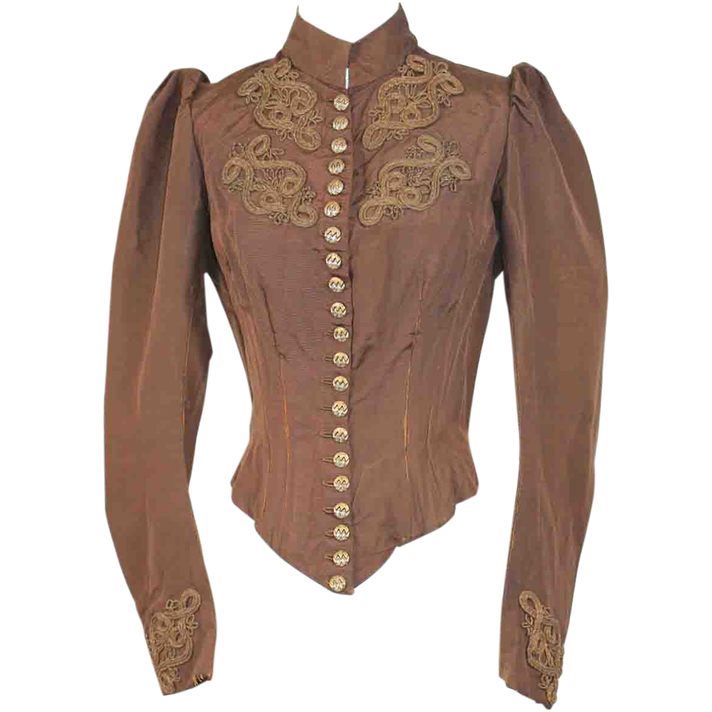 Metal shank buttoned bodice, c. 1890