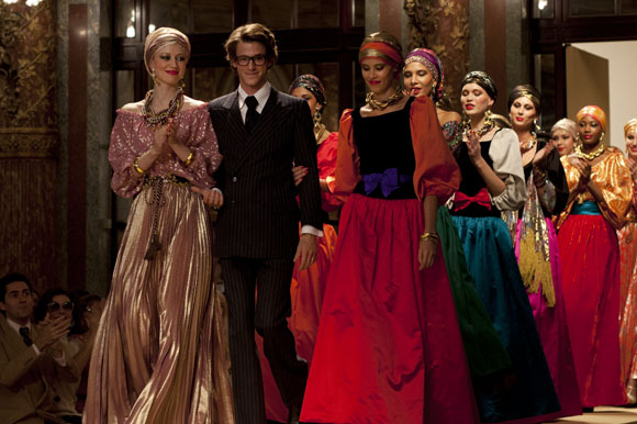 Scene from the film of the Russian collection 1976, using real YSL fashions