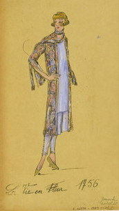 Worth fashion sketch, summer 1926