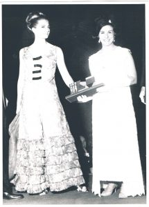 Claire Haddad receiving her Cody award in 1967