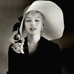 Marilyn Monroe photographed by Bill Cunningham wearing a Cunningham hat