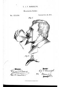 Moustache holder 1872