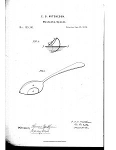 Moustache spoon 1873