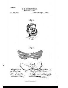 Moustache holder 1890