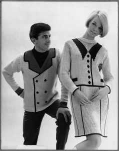 1966 John Carr Doughty knit suit and sweater