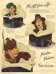 Stetson also made women's hats, starting in 1932