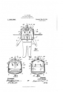 Patent papers for the device