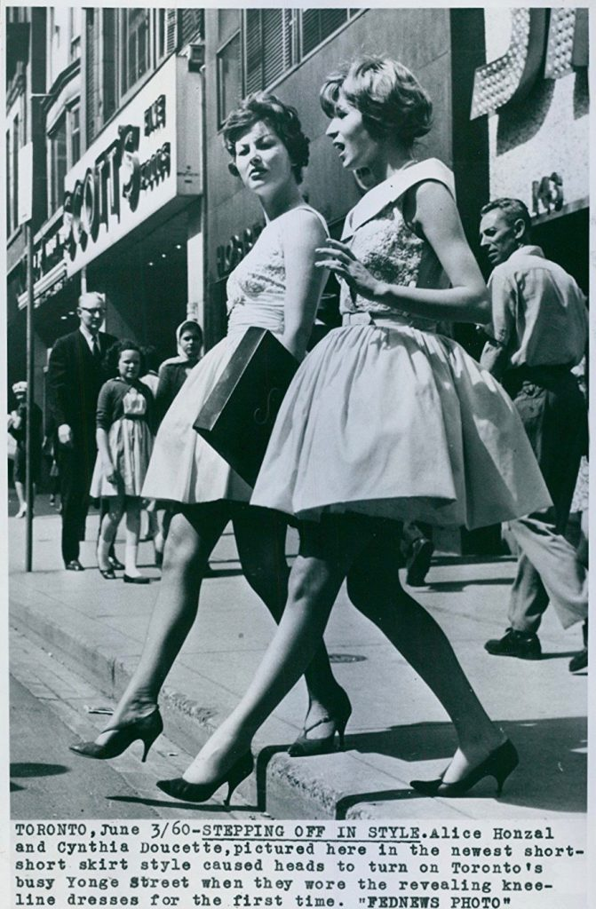 2adbcd5c249ac9 This should forever end the debate over who 'invented' the first miniskirt.  It turns out it wasn't Mary Quant, or Andres Courreges, or John Bates, ...